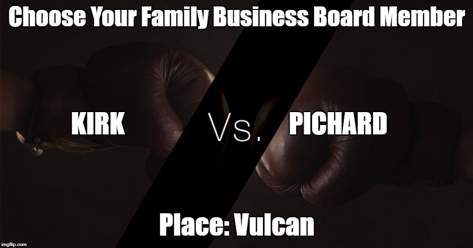 Choose Your Board Member: Captain James T. Kirk vs. Captain Jean-Luc Picard