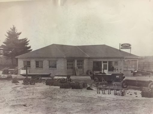 The original store circa 1950s. The store was founded by John Klem as a Ford Tractor dealership.
